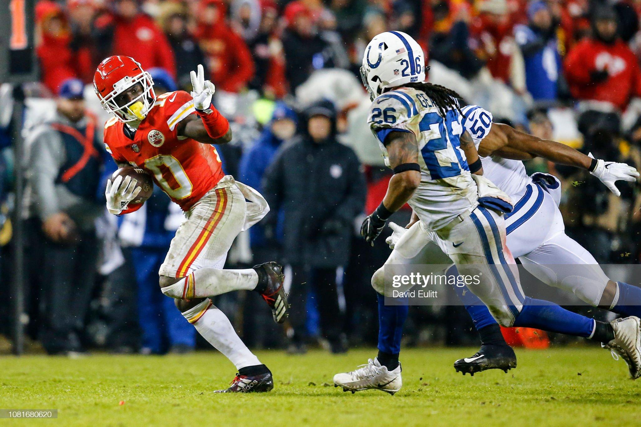 Divisional Round - Indianapolis Colts v Kansas City Chiefs : Foto jornalística