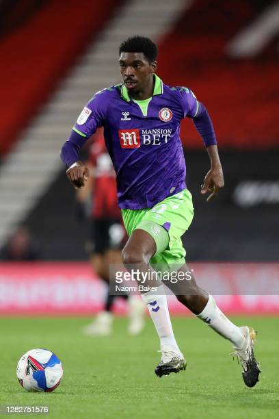 Tyreeq Bakinson of Bristol City in action during the Sky Bet Championship match between AFC Bournemouth and Bristol City at Vitality Stadium on...