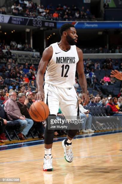 Tyreke Evans of the Memphis Grizzlies handles the ball against the Oklahoma City Thunder on February 14 2018 at FedExForum in Memphis Tennessee NOTE...