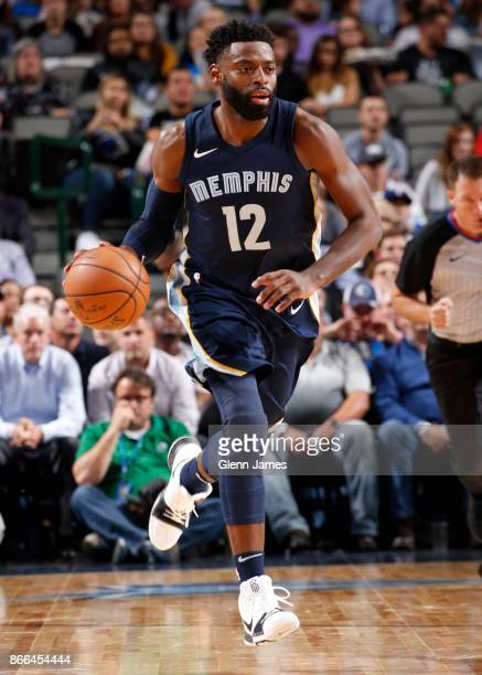 Tyreke Evans of the Memphis Grizzlies handles the ball during the game against the Dallas Mavericks on October 25 2017 at the American Airlines...