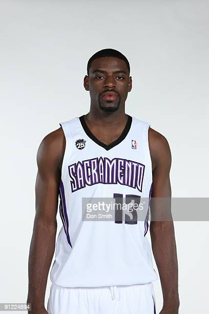 Tyreke Evans of the Sacramento Kings poses for a portrait during 2009 NBA Media Day on September 28 2009 at the Practice Facility in Sacramento...