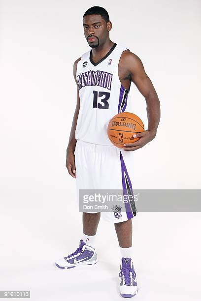 Tyreke Evans of the Sacramento Kings poses for a portrait during 2009 NBA Media Day on September 28 2009 at the Kings Practice Facility in Sacramento...