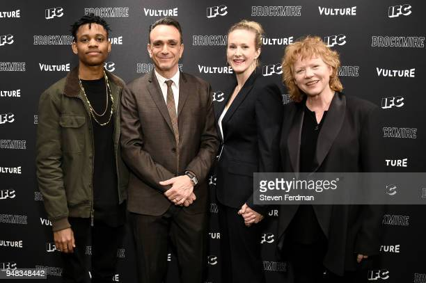 Tyrel Jackson Williams Hank Azaria Katie Finneran and Becky Ann Baker attend 'Brockmire' Season 2 premiere at The Film Society of Lincoln Center...