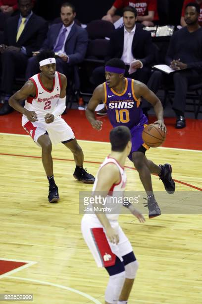 Tyrell Corbin of the Northern Arizona Suns handles the ball against Memphis Hustle during an NBA GLeague game on February 21 2018 at Landers Center...