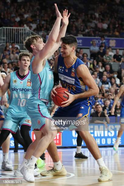 Tyrell Harrison of the Bullets with the ball during the round 11 NBL match between the Brisbane Bullets and the New Zealand Breakers at Nissan Arena...