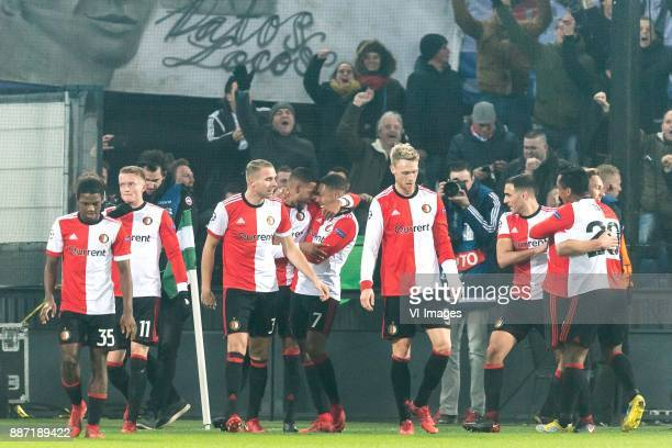Tyrell Malacia of Feyenoord Sam Larsson of Feyenoord Sven van Beek of Feyenoord Jeremiah St Juste of Feyenoord JeanPaul Boetius of Feyenoord Nicolai...