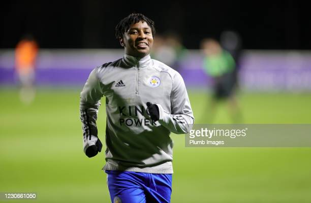 Tyrell Pennant of Leicester City ahead of the Premier League 2 match between Leicester City and Manchester United at Leicester City Training Ground,...