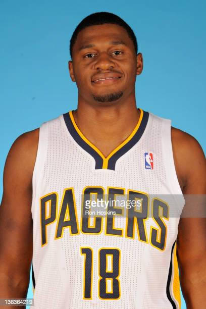 Tyren Johnson of the Indiana Pacers poses for a photo during the media day on December 14 2011 at Conseco Fieldhouse in Indianapolis Indiana NOTE TO...