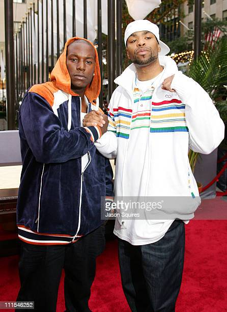 Tyrese and Method Man during 2006 MTV Video Music Awards MTVcom Red Carpet at Radio City Music Hall in New York City New York United States
