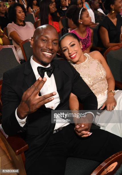 Tyrese and Samantha Lee Gibson attend Black Girls Rock 2017 at NJPAC on August 5 2017 in Newark New Jersey