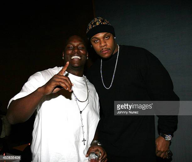 Tyrese and Visanthe Shiancoe during Beanie Sigel's Birthday Party March 6 2007 at 4040 Club in New York City New York United States
