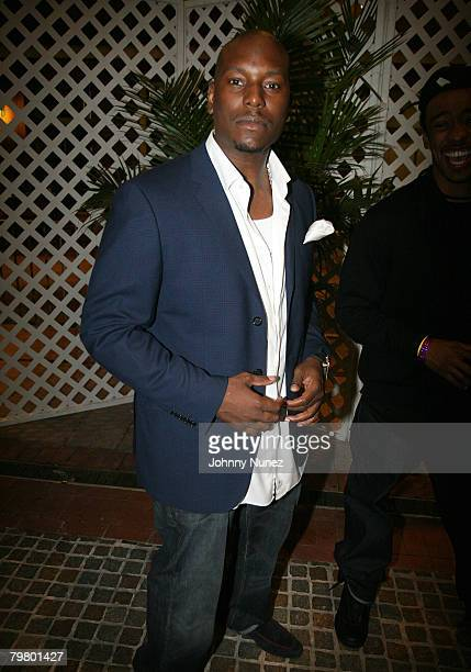 Tyrese attends the 2008 NBA AllStar in New Orleans ESPN The Magazine's Chicken `N' Waffles event at Harrah's Hotel February 15 2008 in New Orleans...