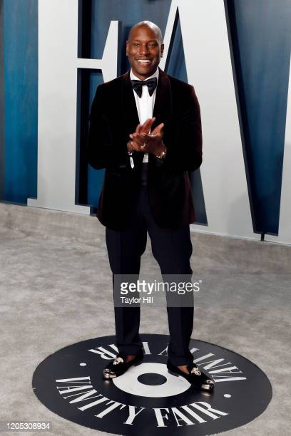 Tyrese attends the Vanity Fair Oscar Party at Wallis Annenberg Center for the Performing Arts on February 09 2020 in Beverly Hills California