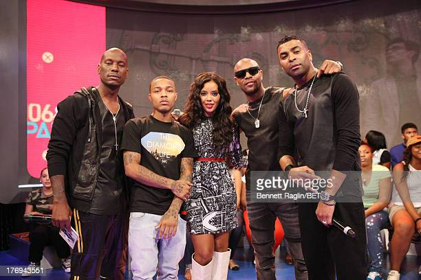 Tyrese Bow Wow Angela Simmons Tank and Ginuwine attend 106 Park at 106 Park Studio on August 19 2013 in New York City
