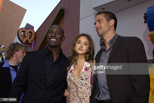 Tyrese Devon Aoki Paul Walker during The World Premiere Of 2 Fast 2 FuriousRed Carpet Arrivals at Universal Amphitheatre in Universal City California...