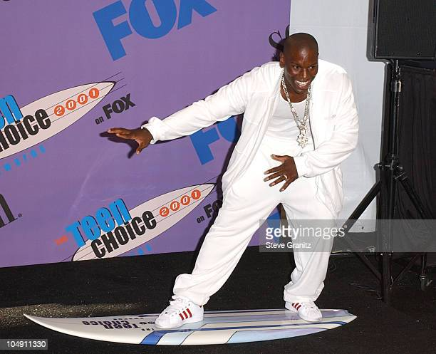 Tyrese during The 2001 Teen Choice Awards Press Room at Universal Amphitheater in Universal City California United States