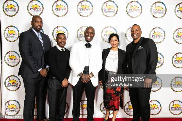 Tyrese Gibson and Deon Taylor along with guests attend the 19th Annual Gala for the Children at The Beverly Hilton Hotel on November 19 2019 in...