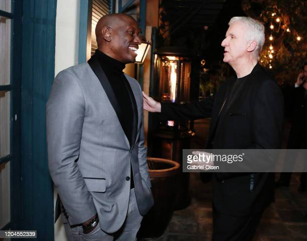 Tyrese Gibson and Director James Cameron attends Red Carpet Green Dress at the Private Residence of Jonas Tahlin CEO of Absolut Elyx on February 06...