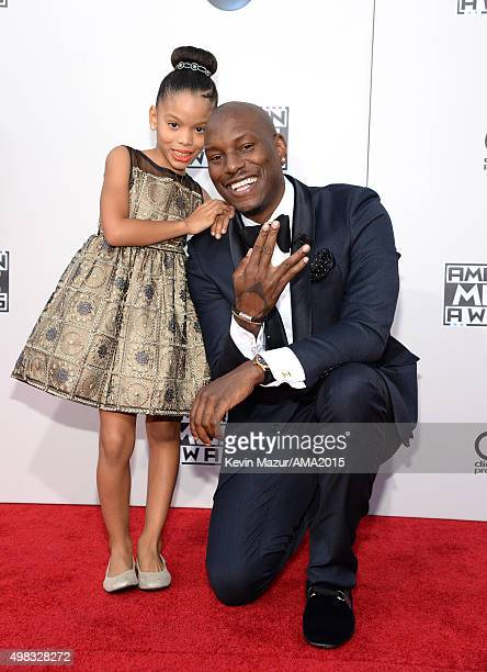 Tyrese Gibson and his daughter Shayla Somer Gibson attend the 2015 American Music Awards at Microsoft Theater on November 22 2015 in Los Angeles...