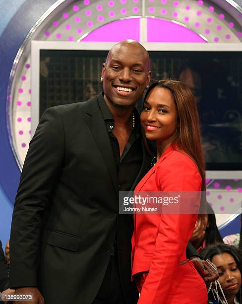 Tyrese Gibson and Rozonda 'Chilli' Thomas visit BET's '106 Park' at BET Studios on February 14 2012 in New York City
