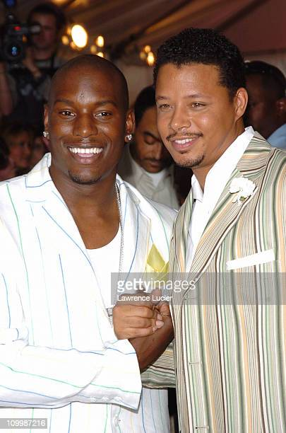 Tyrese Gibson and Terrence Howard during Four Brothers New York CityPremiere - Arrivals at Chelsea West in New York City, New York, United States.