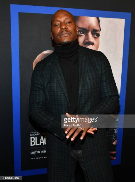 Tyrese Gibson attends Black and Blue Atlanta special screening at The Plaza Theatre on October 23 2019 in Atlanta Georgia