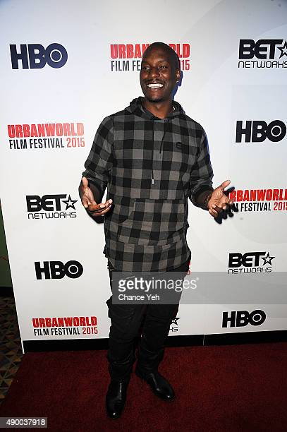 Tyrese Gibson attends Muhammad Ali The People's Champ opening night film of the 2015 Urbanworld Film Festival at AMC Empire 25 theater on September...