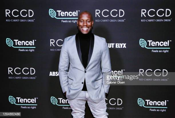 Tyrese Gibson attends Red Carpet Green Dress at the Private Residence of Jonas Tahlin CEO of Absolut Elyx on February 06 2020 in Los Angeles...
