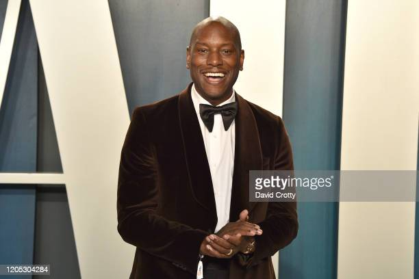 Tyrese Gibson attends the 2020 Vanity Fair Oscar Party at Wallis Annenberg Center for the Performing Arts on February 09 2020 in Beverly Hills...