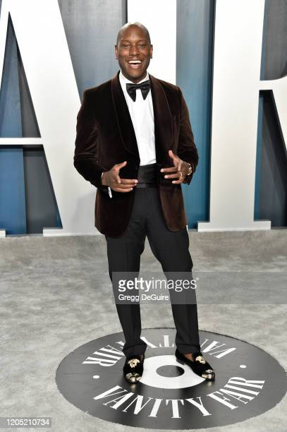 Tyrese Gibson attends the 2020 Vanity Fair Oscar Party hosted by Radhika Jones at Wallis Annenberg Center for the Performing Arts on February 09 2020...