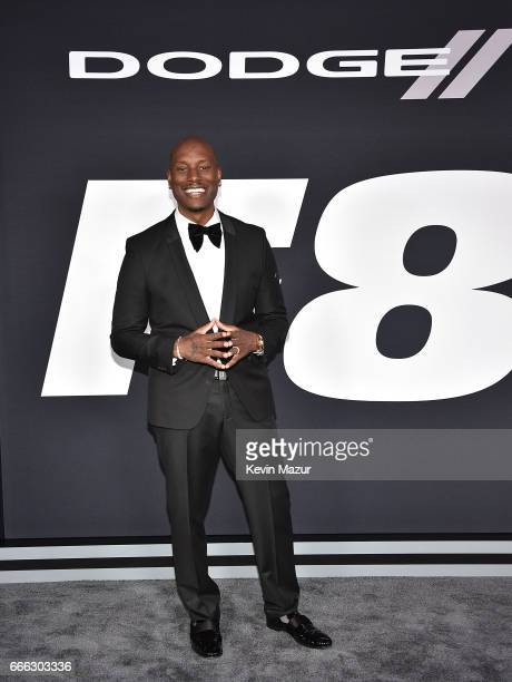 Tyrese Gibson attends 'The Fate Of The Furious' New York premiere at Radio City Music Hall on April 8 2017 in New York City