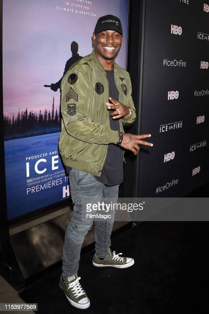 Tyrese Gibson attends the Los Angeles premiere of Ice on Fire from HBO on June 05 2019 in Los Angeles California