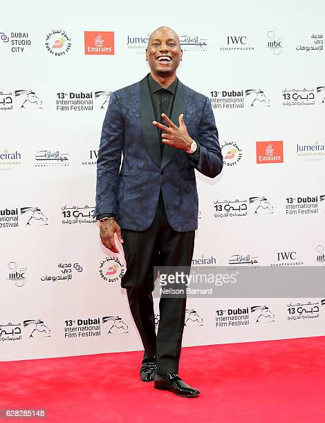 Tyrese Gibson attends the Opening Night Gala during day one of the 13th annual Dubai International Film Festival held at the Madinat Jumeriah Complex...