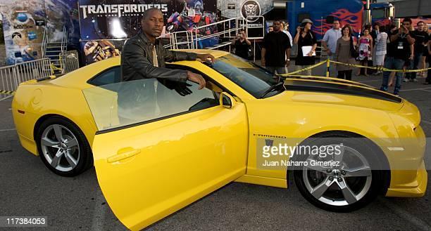 Tyrese Gibson attends 'Transformers Dark of The Moon' Premiere at Kinepolis Cinema on June 26 2011 in Madrid Spain