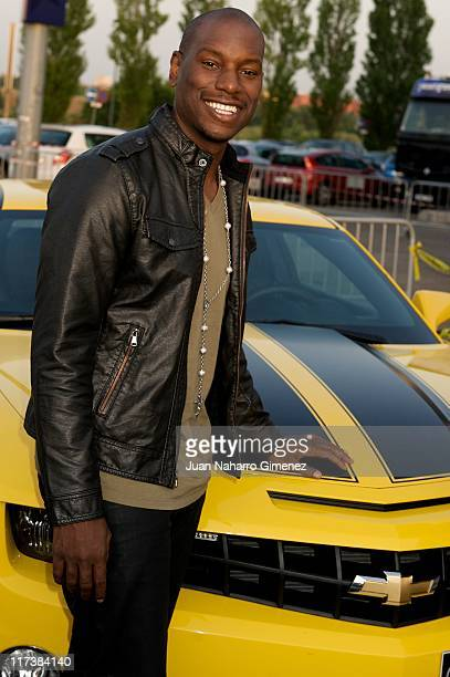Tyrese Gibson attends 'Transformers Dark of The Moon' Premiere at Kinepolis Cinema on June 26 2011 in Madrid Spain