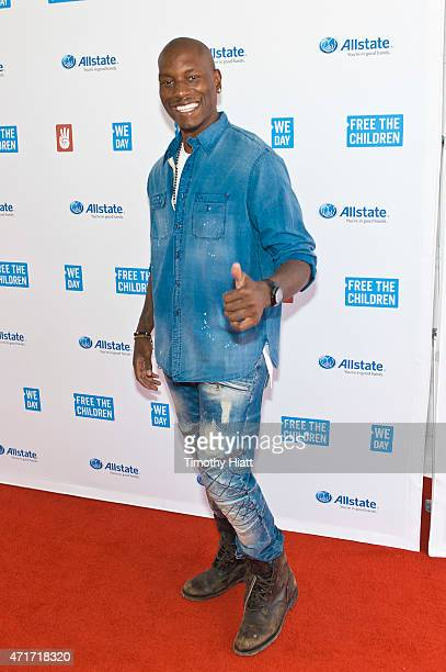 Tyrese Gibson attends We Day at Allstate Arena on April 30 2015 in Rosemont Illinois