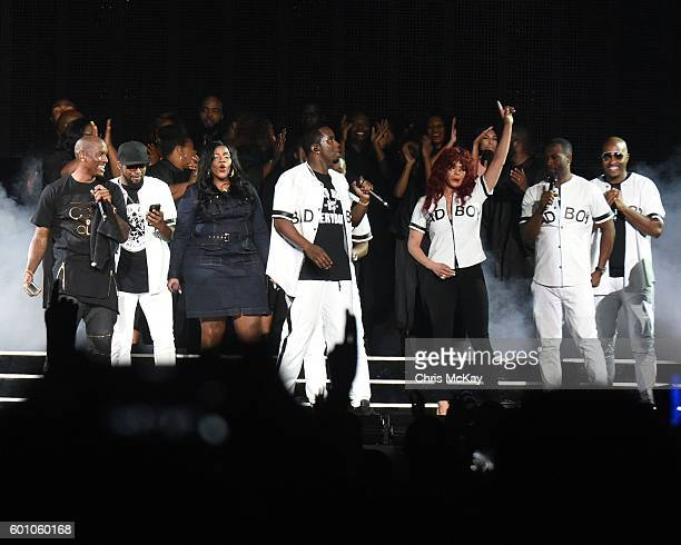 Tyrese Gibson Carl Thomas Kelly Price Sean 'P Diddy' Combs aka Puff Daddy Faith Evans Q Parker of 112 Slim of 112 and Mase perform at Philips Arena...