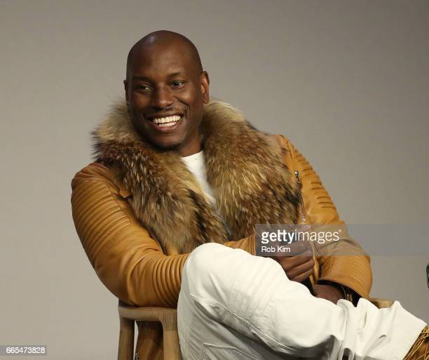 Tyrese Gibson discusses 'The Fate Of The Furious' at Apple Store Soho on April 6 2017 in New York City