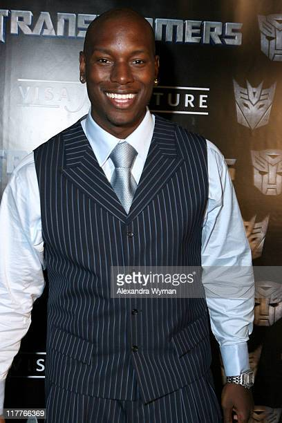 Tyrese Gibson during DreamWorks Pictures and Paramount Pictures Los Angeles Premiere of Transformers at Mann's Village Theater in Westwood California...