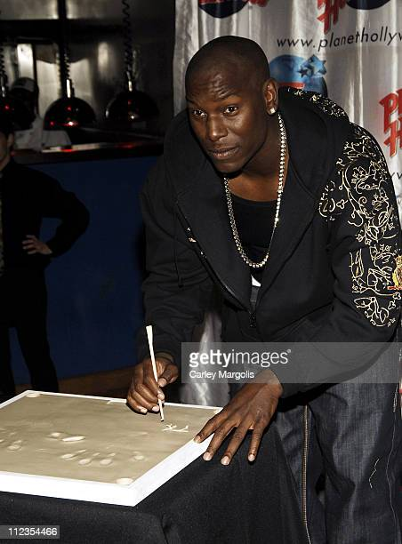 Tyrese Gibson during Tyrese Visits Planet Hollywood to Promote his New Movie 'Waste Deep' at Planet Hollywood in New York City New York United States