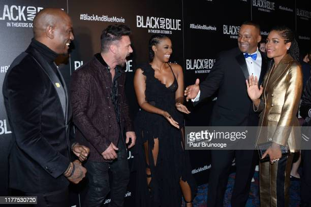 Tyrese Gibson Frank Grillo Nafessa Williams Deon Taylor and Naomie Harris attend Screen Gems Hosts A Special Screening Of Black And Blue at Regal...