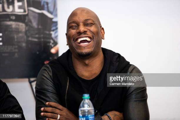 Tyrese Gibson is seen during the Black Blue cast members' visit to Morehouse College on October 24 2019 in Atlanta Georgia