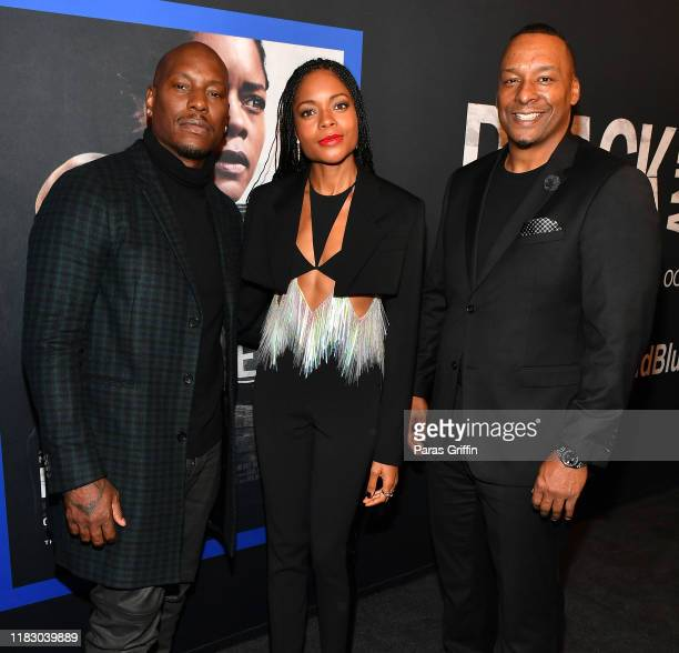 Tyrese Gibson Naomie Harris and Deon Taylor attend Black and Blue Atlanta special screening at The Plaza Theatre on October 23 2019 in Atlanta Georgia