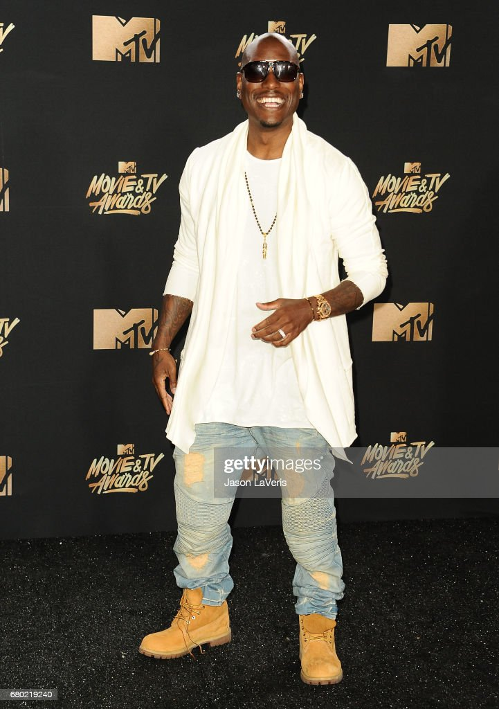 Tyrese Gibson poses in the press room at the 2017 MTV Movie and TV Awards at The Shrine Auditorium on May 7, 2017 in Los Angeles, California.