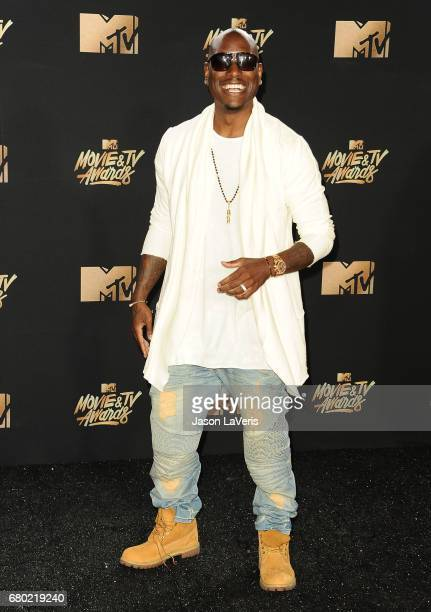 Tyrese Gibson poses in the press room at the 2017 MTV Movie and TV Awards at The Shrine Auditorium on May 7 2017 in Los Angeles California