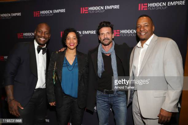 Tyrese Gibson Roxanne Taylor Frank Grillo and Deon Taylor arrive at 51st NAACP Image Awards FYC Screening Series of BLACK AND BLUE with Deon Taylor...