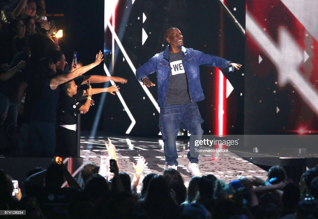 Tyrese Gibson speaks onstage at WE Day California to celebrate young people changing the world at The Forum on April 27, 2017 in Inglewood, California.