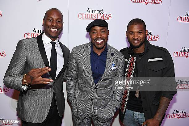 Tyrese Gibson Will Packer and Usher Raymond attend 'Almost Christmas' Atlanta screening at Regal Cinemas Atlantic Station Stadium 16 on October 26...