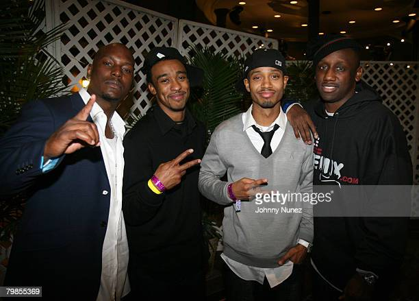 Tyrese guest Terrence and Shaka Zulu of DTP attend the 2008 NBA AllStar in New Orleans ESPN The Magazine's Chicken `N' Waffles event at Harrah's...