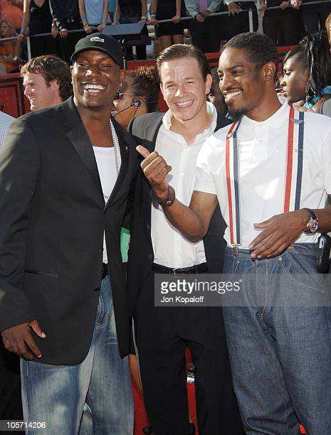 Tyrese Mark Wahlberg and Andre 3000 during 2005 ESPY Awards Arrivals at Kodak Theatre in Hollywood California United States